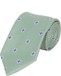 Green Floral Tie