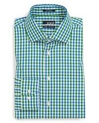 Green Gingham Dress Shirt