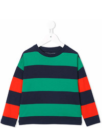 Green Horizontal Striped T-shirt