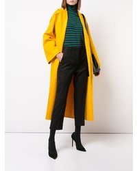 Green Horizontal Striped Turtleneck