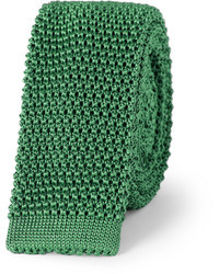 Slim knitted silk tie medium 6226