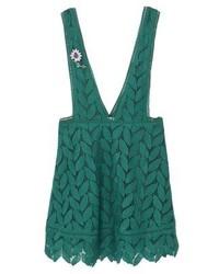 Mango Mini Skirt Green