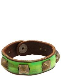 Green Leather Bracelet
