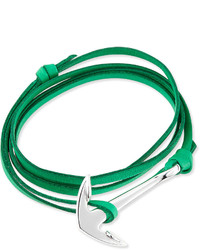Anchor leather bracelet kelly green medium 263249