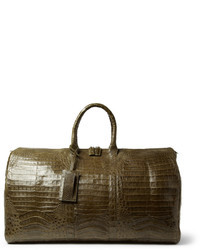 Green Leather Holdall