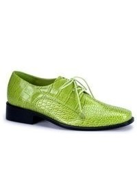 Green Leather Oxford Shoes
