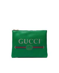 Gucci Green Logo Pouch
