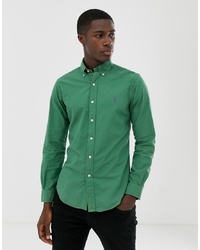 Polo Ralph Lauren Slim Fit Gart Dyed Shirt With Collar In Green