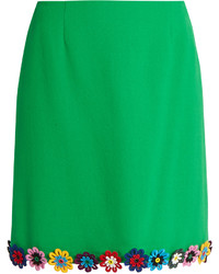 Mary Katrantzou Clovis Guipure Lace Wool Crepe Mini Skirt