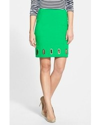 MICHAEL Michael Kors Michl Michl Kors Oval Grommet Pencil Skirt Spring Green 8