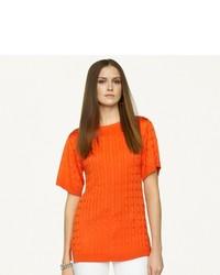 Ralph Lauren Black Label Cable Knit Silk Tunic