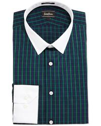 Green Plaid Dress Shirt