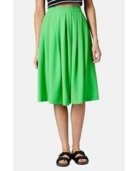 Topshop Seersucker Midi Skirt