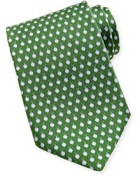 Salvatore Ferragamo Snail Silk Tie Green