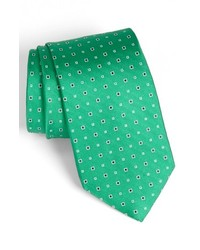 Nordstrom Woven Silk Tie Green Regular