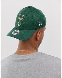 New Era Shadow Tech 9forty Milwaukee Bucks Adjustable Cap In Green