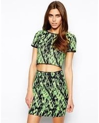 Lashes Of London Mika Crop Jacquard Top