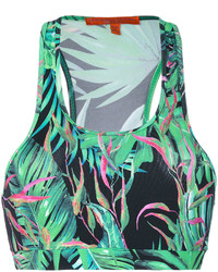 Ermanno Scervino Palm Print Crop Top