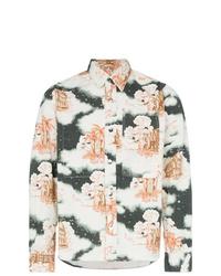 Vyner Articles Cloud Print Cotton Shirt