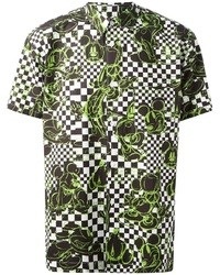 Green Print Short Sleeve Shirt