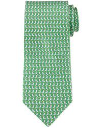 Green Print Tie
