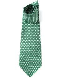 Salvatore Ferragamo Frog Print Tie