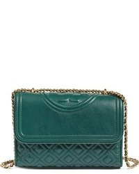 Small fleming quilted leather shoulder bag green medium 963513