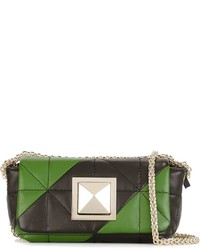 Striped quilted cross body bag medium 962170