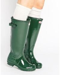 Original adjustable tall glossy wellington boot medium 1148437