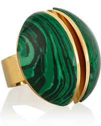 Chloé Ellie Gold Tone Stone Ring