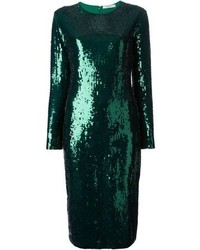 Green Sequin Sheath Dress