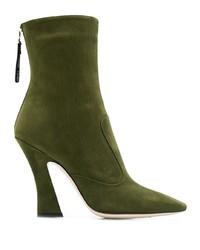 Fendi Square Toe Ankle Boots