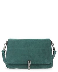 Green Suede Crossbody Bag