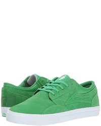 Green Suede Low Top Sneakers