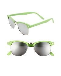 Steve Madden 50mm Retro Sunglasses Green One Size