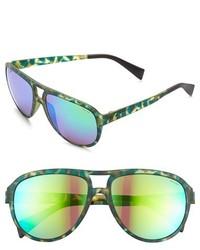 Italia Independent 60mm Mirrored Aviator Sunglasses