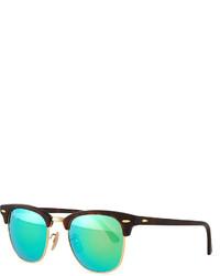 Ray-Ban Clubmaster Half Rimmed Sunglasses Tortoisegreen