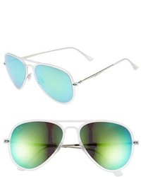 Ray-Ban Tech Light Ray 56mm Aviator Sunglasses