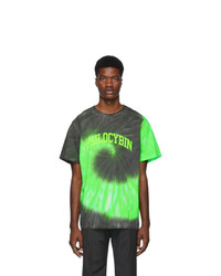 Green Tie-Dye Crew-neck T-shirt