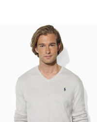 Polo Ralph Lauren Pima Cotton V Neck Sweater