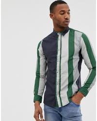 Burton Menswear Twill Shirt In Green