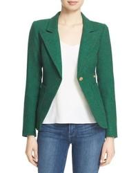 Duchess suede trim wool blend blazer medium 793593