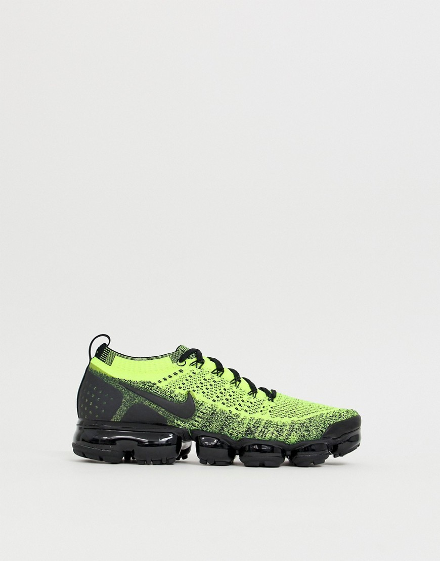 the latest 32ab8 15c29 Vapormax Flyknit 2 Racer Og Trainers In Yellow