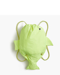 J.Crew Girls Drawstring Fish Backpack