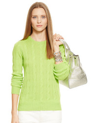 Green-Yellow Cable Sweater