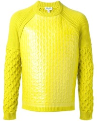 Coated cable knit sweater medium 148918