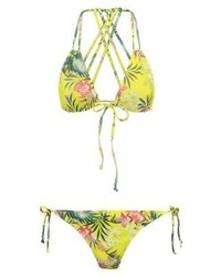 Missguided Bikini Parrot Green