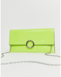 New Look Circle Detail Bag In Neon Green