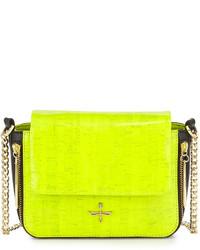 Green-Yellow Leather Crossbody Bag