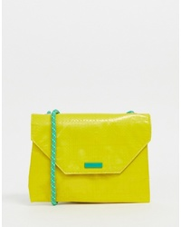 Pull&Bear Neon Bag With Rope Strap